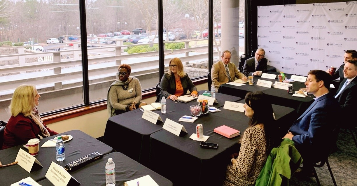 Assistant Secretary Johnson speaks at a foster adoption roundtable hosted by the Georgia Center for Opportunity.