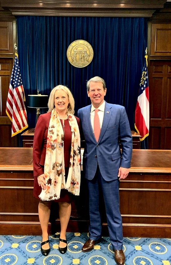 Assistant Secretary Lynn A. Johnson and Governor Brian Kemp