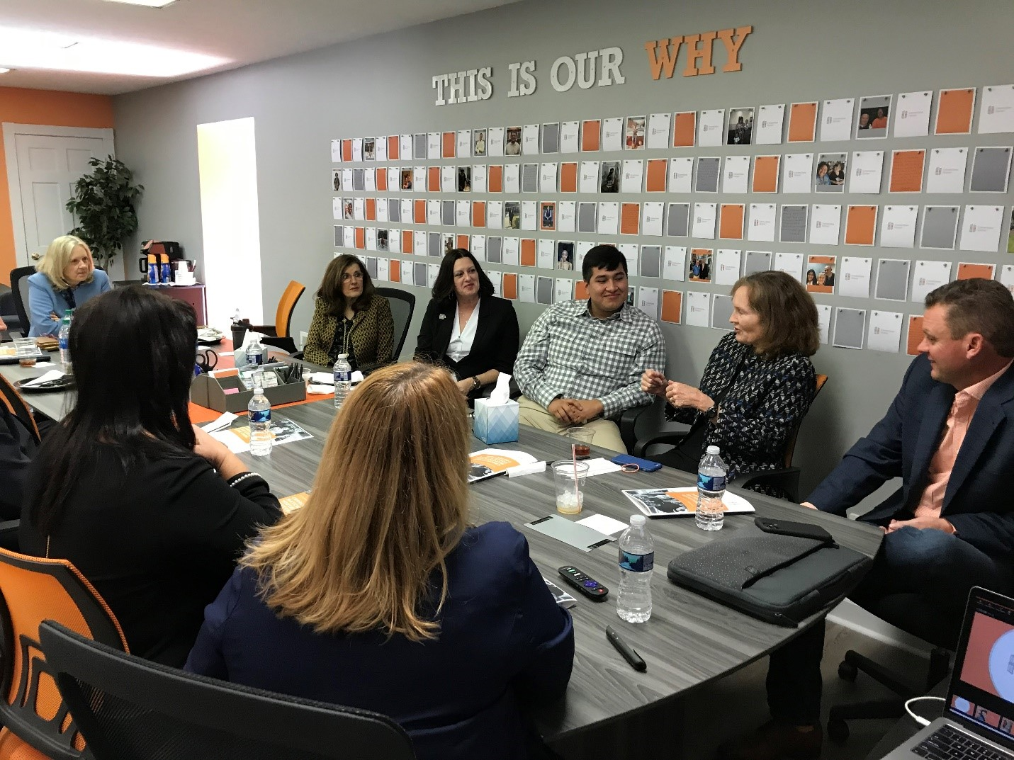 Assistant Secretary Lynn Johnson meeting with the Connections Homes team