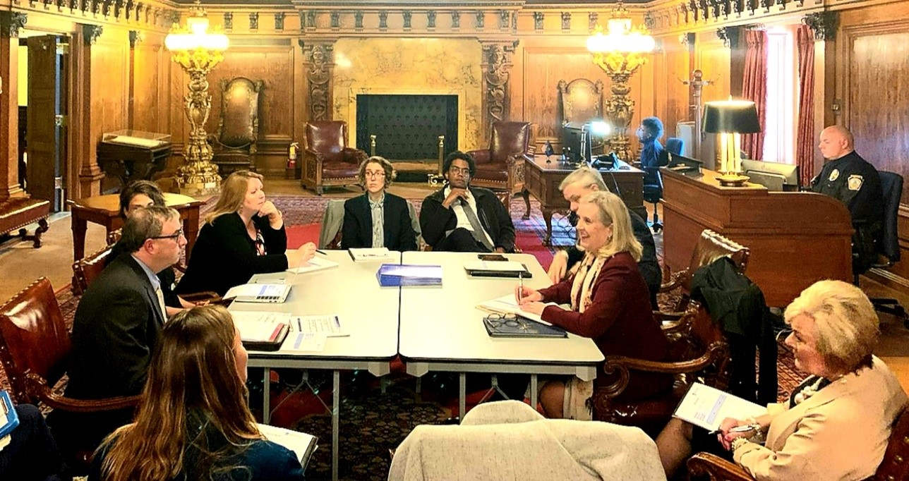 Meeting with Governor's policy and human services staff at the Pennsylvania State Capitol