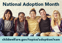 National Adoption Month badge