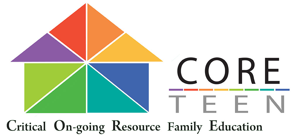 Logo: Core Teen, Critical On-going Resource Family Education