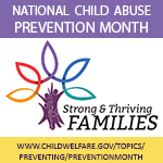 National Child Abuse Prevention Month 2019 Badge with conference image