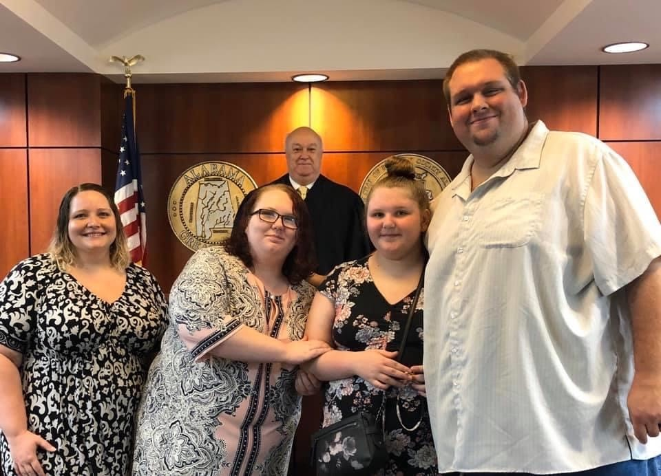 The Oehmsen family on adoption day