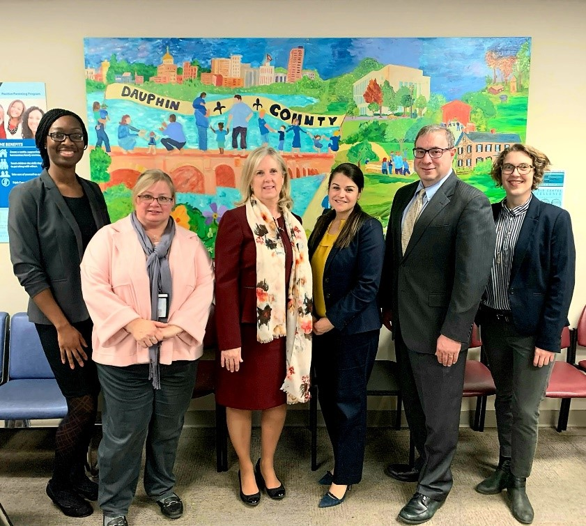 Assistant Secretary Lynn Johnson on a tour of the Dauphin County Children and Youth Office