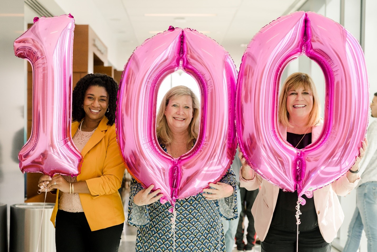 From Left to Right, Candice Odom, Selfless Love Foundation; Amy Simpson, Adoption-Share; and Dr. Elizabeth Wynter, celebrating the 100th Family-Match adoption in Florida earlier this year. Picture by: ThisisMo Media