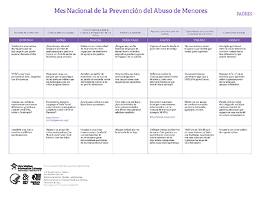 Activity Calendar in Spanish Image