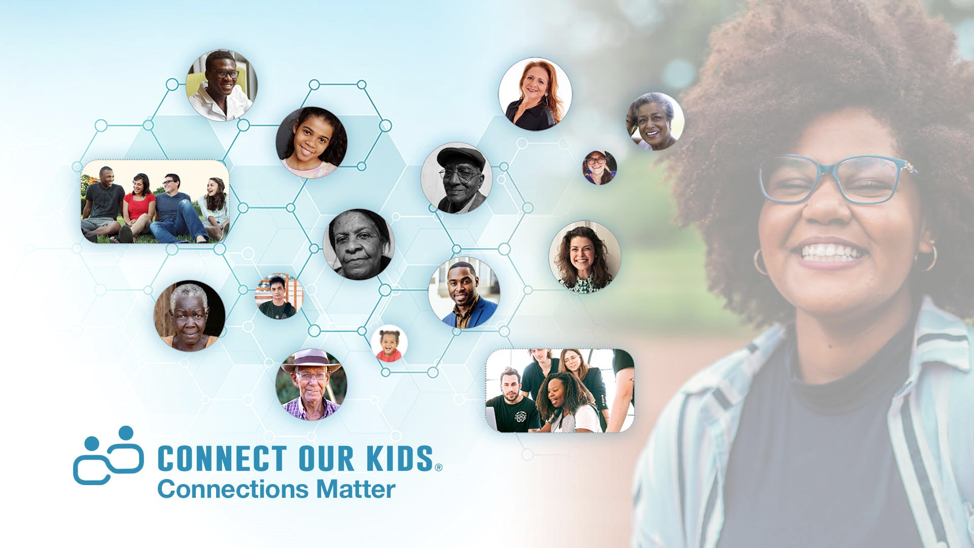 Connect Our Kids Connection Matters promotional graphic.
