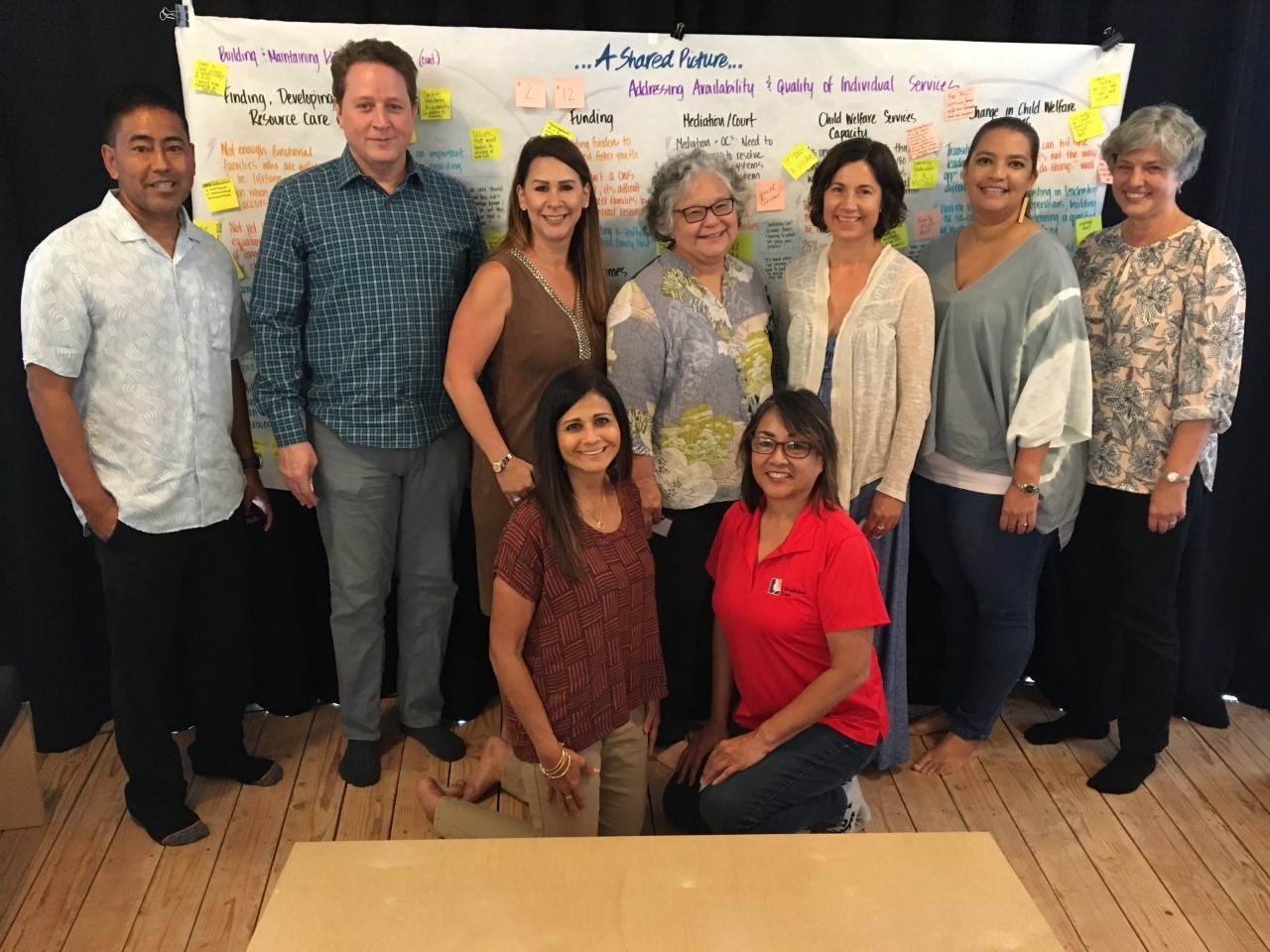 Na Kama a Haloa design team (2018), comprising participants from EPIC 'Ohana, Child Welfare Services, Lili'uokalani Trust, Kamehameha Schools, and Co-Creative Consulting.