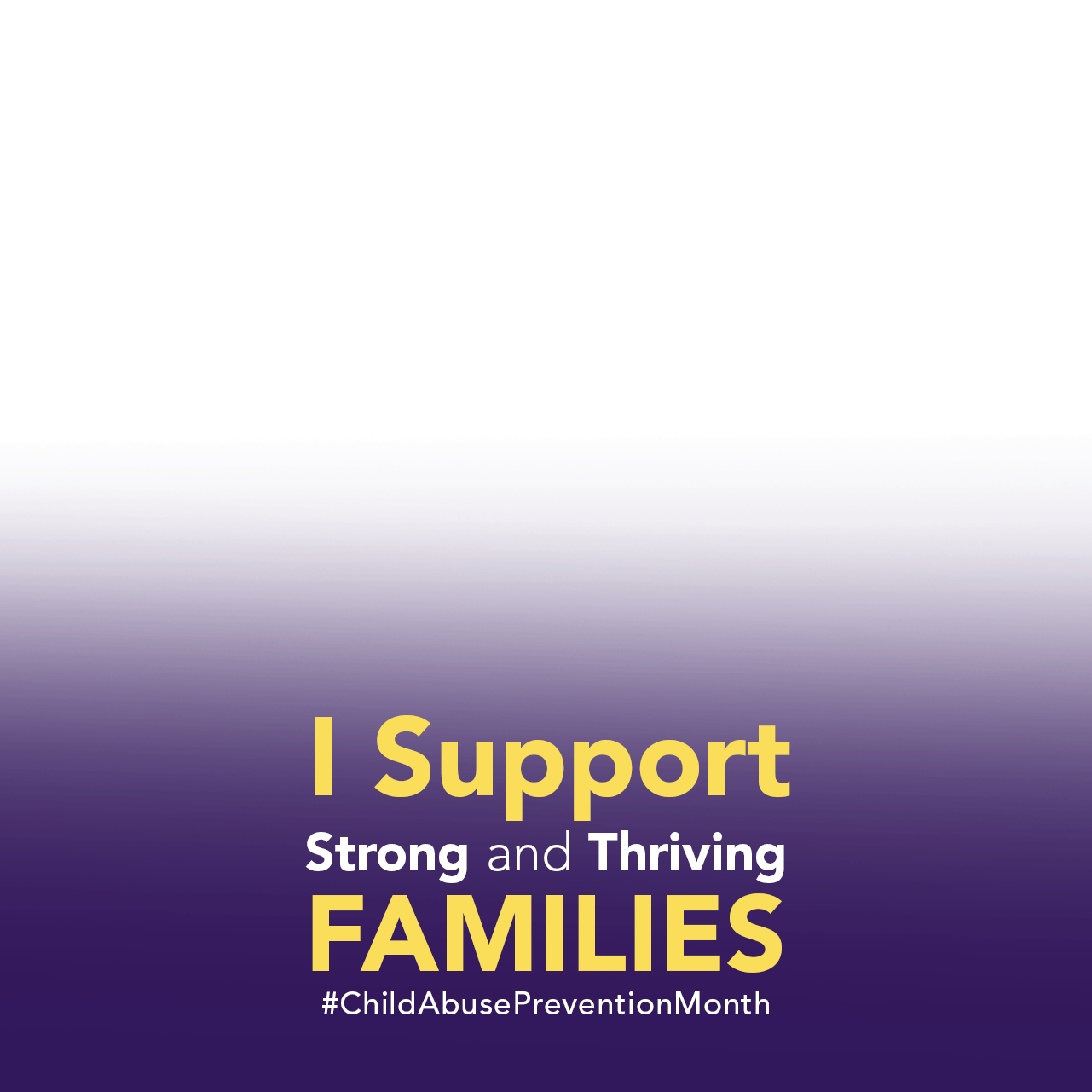 1281px by 1281 px Facebook profile frame with I support strong and thriving families text