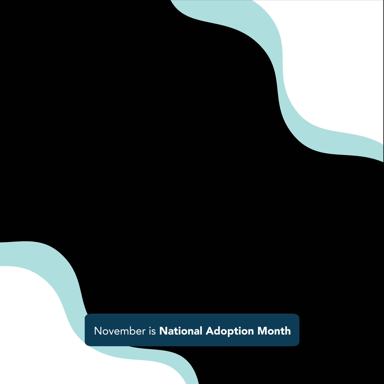 Square shaped Facebook frame. November is National  Adoption Month!