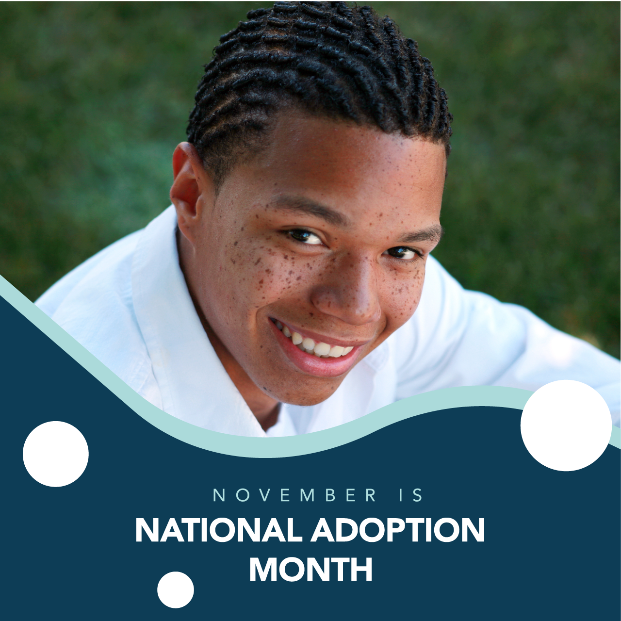 Square shaped Facebook frame example. Square shaped Facebook frame. November is National Adoption Month!