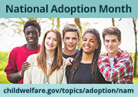 National Adoption Month Widget