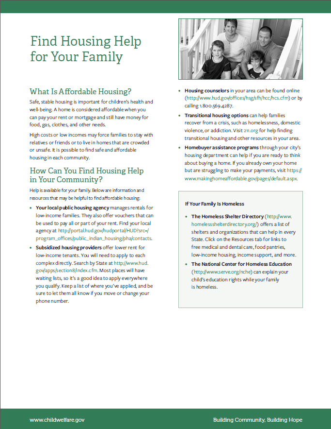 Finding Affordable Housing Tip Sheet