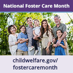 National Foster Care Month widget