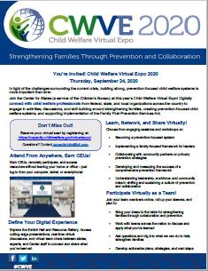 Child Welfare Virtual Expo 202 Flier Cover