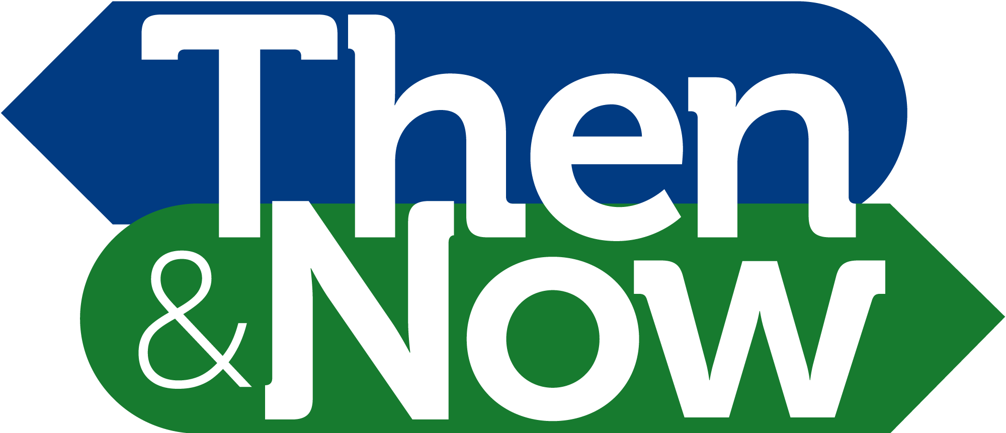 then and now logo