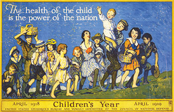 Poster for Children's Year, 1918-1919