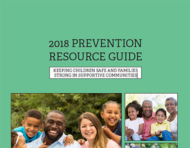 Cover of the 2018 Prevention Resource Guide