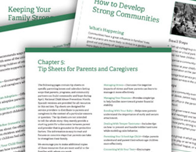 Cover of Tip Sheets for Parents and Caregivers